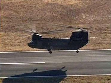 National Guard Chinooks Stop In Tulsa