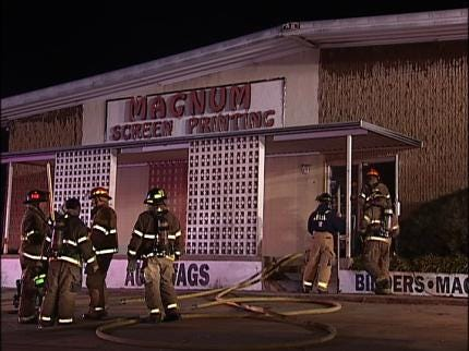 Fire Damages Magnum Screen Printing