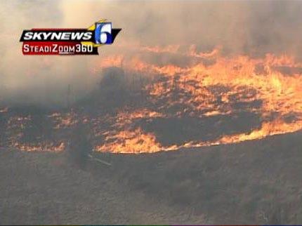 Officials Investigate Grassfires Near Mannford