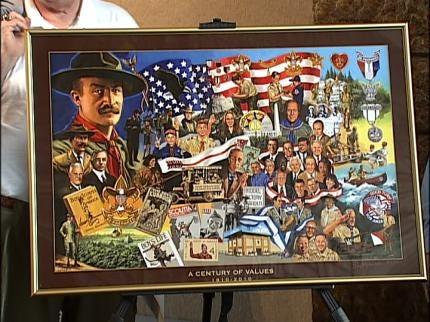 Boy Scouts Caravan Stops In Tulsa