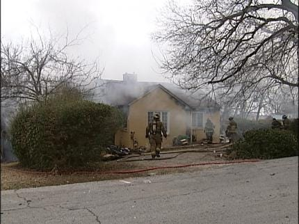 Tulsa Fire Department Responds To House Fire