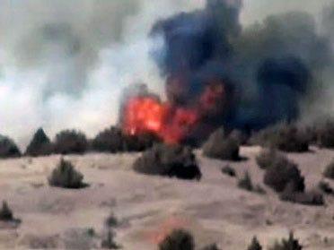 Wildfire Burns Near Woodward