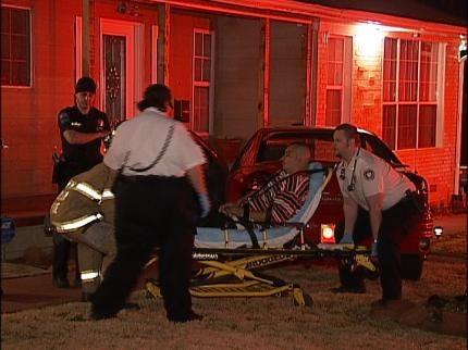 Driver Visits Hospital After Car Hits Tulsa Home