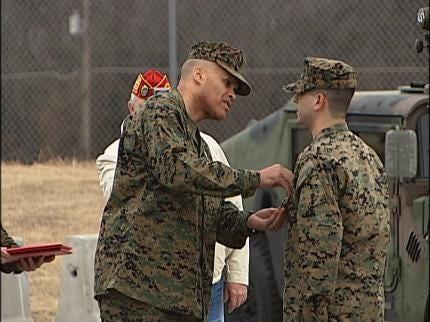 Broken Arrow Marine Awarded Purple Heart