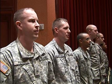 Tulsa-Area Soldiers Leaving For Iraq