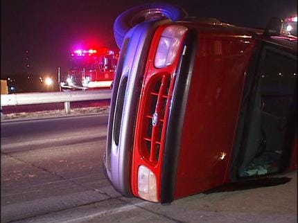 Woman Escapes Injury After Tulsa Rollover Accident