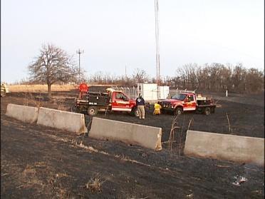 Crews Fight North Tulsa Grass Fire