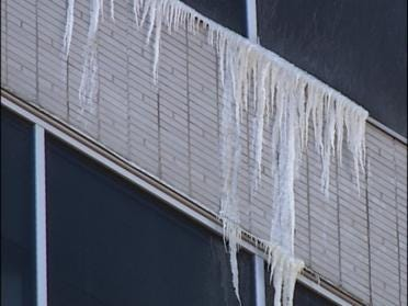 Leak Causes Downtown Tulsa Icicles