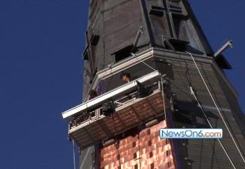 Holy Family Cathedral Rebuilding Spires