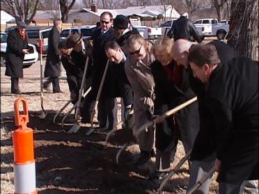 Breaking Ground On the Widening Of I-44 In Tulsa