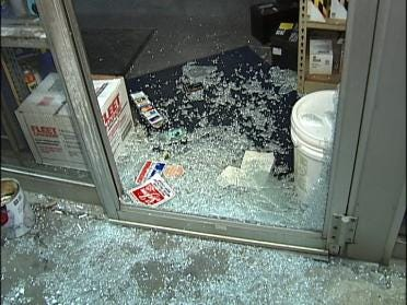 Tulsa Burglary Attempt Damages Store
