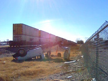 Train Strikes Truck In Rogers Co.
