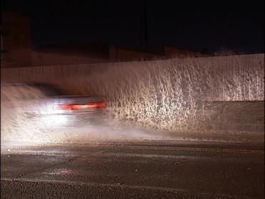 Tulsa Water Line Break Floods Street