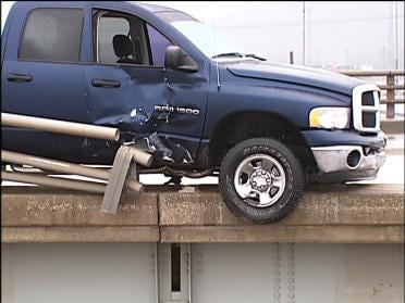 Numerous Crashes On Slick Tulsa Streets