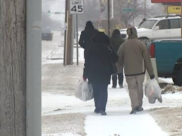 Many Tulsans Slip On The Ice