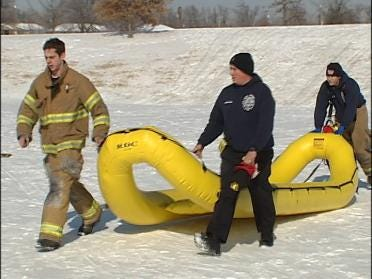 TFD's Water Rescue Responds To Sledding Accident