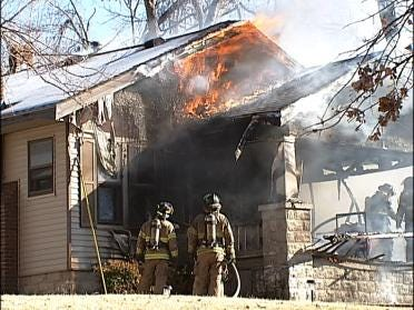 Cigarette Sparks House Fire In Tulsa