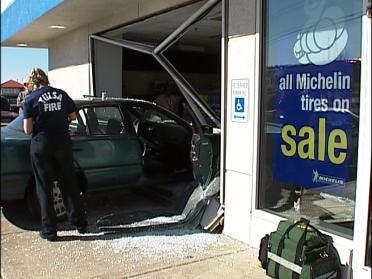 Driver Crashes Into Tulsa Sears Store