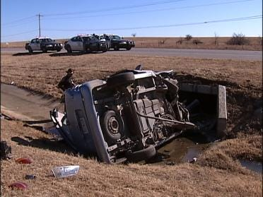Family Hospitalized After Skiatook Car Crash
