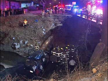 Driver Crashes SUV Into Tulsa Creek