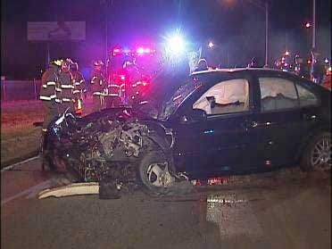Tulsa Car Chase Suspect Hospitalized After Crash