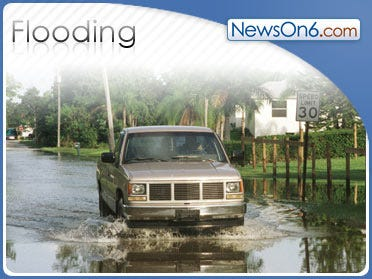 Heavy Rain Causing Flooding Across South
