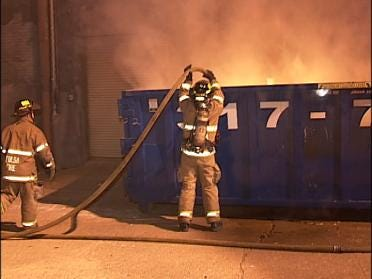 Tulsa Fire Puts Out Dumpster Blaze