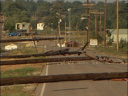 Storm Damages Area Of Oklahoma County