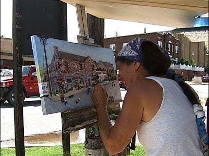 Tulsa Artist Paints The City From The Street