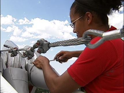 Cable Cars Aid QuikTrip Center's High Wire Repair Job