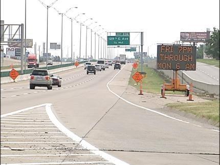 Tulsa Construction Zone Causes Big Traffic Backup