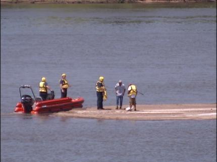 Fishermen Rescued From Arkansas River