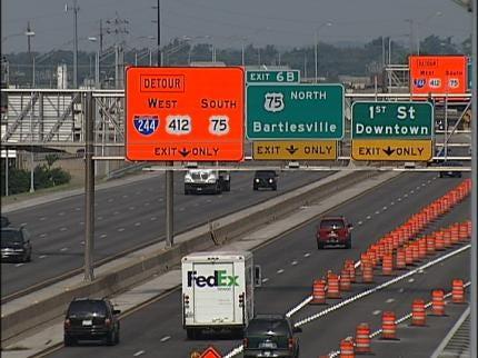 Some Motorists Still Confused Over Tulsa IDL Detours