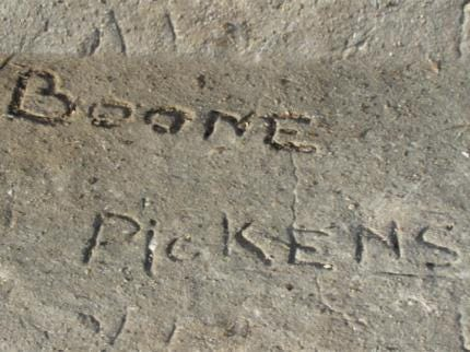 T. Boone Pickens Admits To Taking Signature Slab