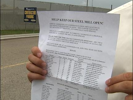 Union Members Trying To Save Their Sand Springs Steel Jobs