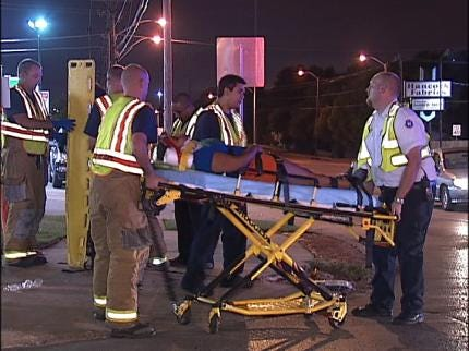 Two Injured In Overnight Tulsa Accident