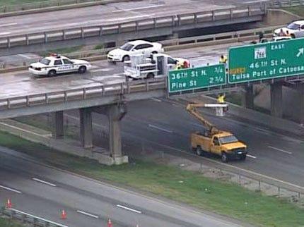 Driver Hit By Tulsa Bridge Debris In Critical Condition
