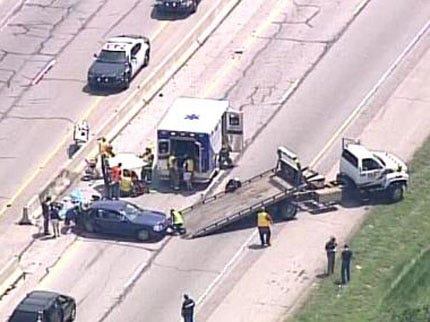 Traffic Accident Slows Traffic On Turner Turnpike
