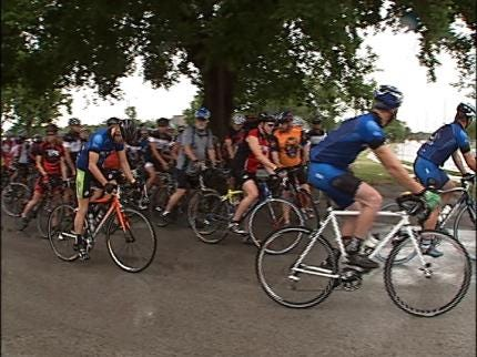 Cyclists Ride To Honor Fallen Friends