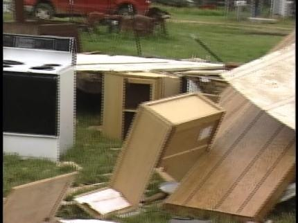 Storm Damage Reported Near Colcord