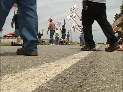 Strike At Vance Air Force Base In Enid Continues