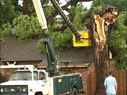 Tree Crashes Into Tulsa Home