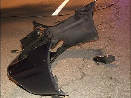 Tulsa Driver Crashes Into Light Pole
