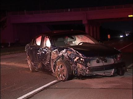 Three Injured In Two Accidents On Creek Turnpike