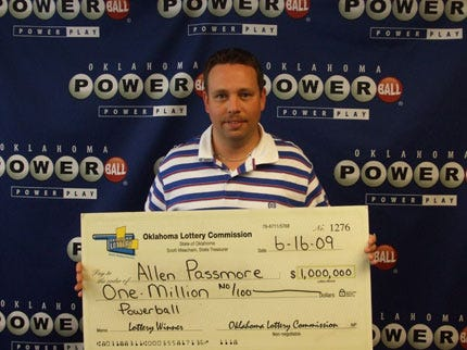 Duncan Man Becomes Lottery Millionaire