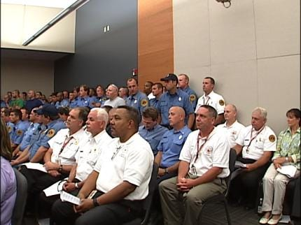 Tulsa Fire Supporters Attend Council Meeting