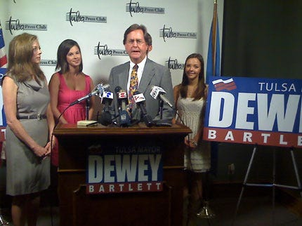 Dewey Bartlett Announces For Tulsa Mayor