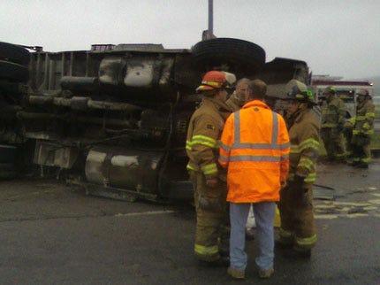 Dump Truck Accident Ties Up Tulsa Traffic