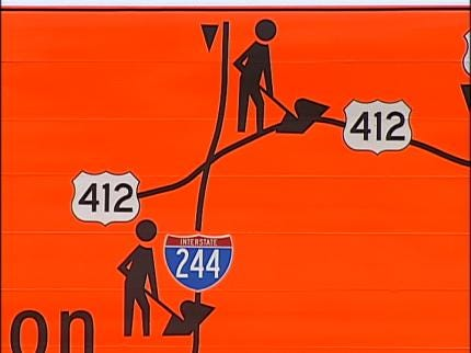 Tulsa Construction Signs Confuse Some Drivers