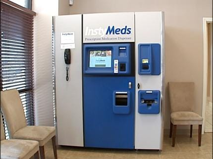 Vending Machine Dispenses Prescription Drugs